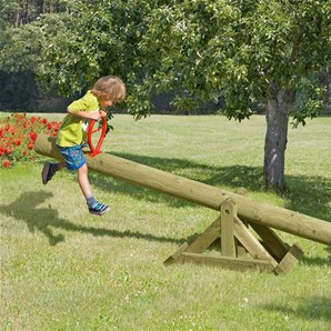 Holz Wippe / Kinderwippe Palisade massiv