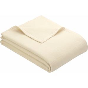 Ibena Wohndecke »Solare Organic Cotton«, 150x200 cm, beige, 100% Baumwolle