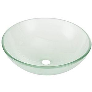[neu.haus] Waschbecken in Milchglas-Optik rund (Ø42cm) Aufsatzbecken Schale
