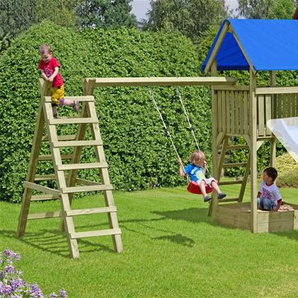 Spielanlage / Spielturm mit Einzelkletterschaukel Ben 410x190x296 cm