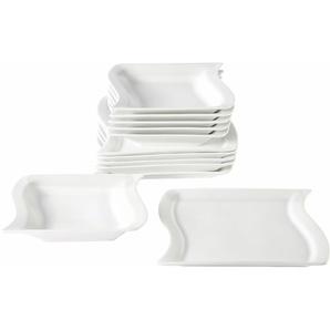 Tafelservice Porzellan »Marchetto« (12-teilig), weiß, Gr. onesize, Material: Porzellan
