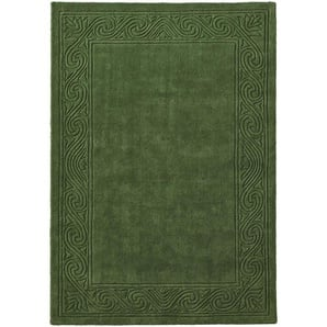 Hochflorteppich uni Farben, grün, Gr. 120/180 cm,  home, Material: Wolle