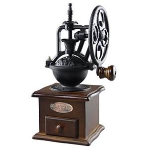 Ouken Vintage manuelle Kaffeemühle Rad Design Kaffeebohne Mühle Schleifmaschine