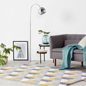 Arceli Stehlampe, Chrom und weisser Marmor