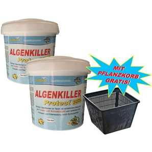 Weitz Algenkiller Protect 3 kg - bis 200.000 Liter - mit Pflanzkorb!