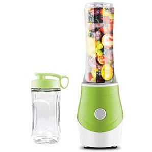Mini Elektrischen Mixer Smoothie Maker mit 2 Reise Juicer BPA Freie Sport Trinkflasch 300ml und 600ml Sharp 4 Klinge Aus Rostfreiem Stahl 250W Ein-Knopf Taste(Green,Double cup)