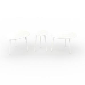 Couchtisch Weiß - Eleganter Sofatisch: Beste Qualität, einzigartiges Design - 67/40/67 x 44/50/44 x 50/40/50 cm, Konfigurator