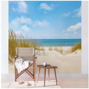 Bilderwelten Vliestapete Quadrat »Strand an der Nordsee«