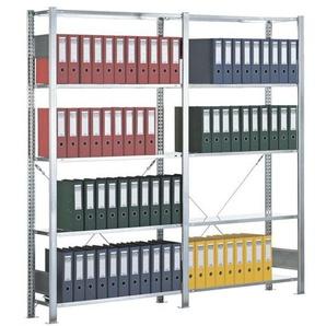 Steckregal-Set »Multiplus 6 OH« einfache Tiefe grau, SCHULTE Lagertechnik, 200x200x30 cm
