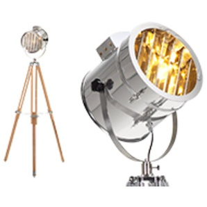 Alfred Tripod-Stehlampe, Naturholz