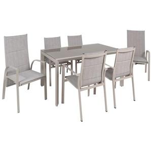 greemotion Gartenmöbel Set »Stockholm«, 7-teilig, aus Aluminium und Texilene