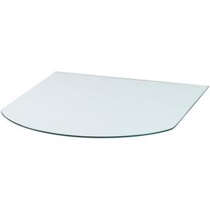 Glasbodenplatte »Halbrundbogen«, 85 x 110 cm, transparent, zum Funkenschutz