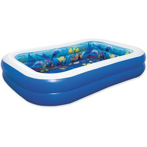 Bestway Planschbecken Family Pool 3D Undersea Adventure blau 262 x 175 x 51 cm