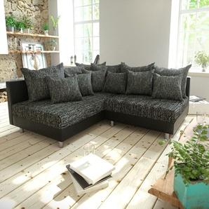 Ecksofa Clovis Schwarz Ottomane Links modular erweiterbar, Design Ecksofas, Couch Loft, Modulsofa, modular