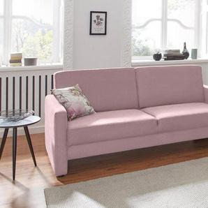 DOMO collection 2,5-Sitzer, rosa, Luxus-Microfaser 1