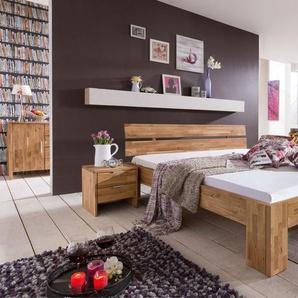 Doppelbett LENA 160x200 cm Farbe Braun Asteiche, Eiche, Wildeiche Massivholz Breite 168 cm
