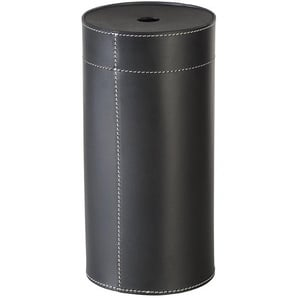 TermaTech Aufbewahrungsbox für Kaminanzünder, Echtleder, schwarz