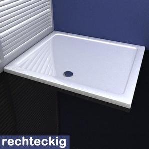 70x120cm Duschkabine Duschtasse aus Kunststein - AICA SANITAIRE