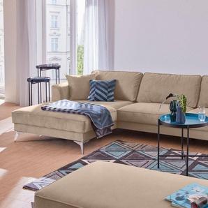 Guido Maria Kretschmer Home&Living Ecksofa »Juta«, modern, mit hochwertigen Metallfüßen