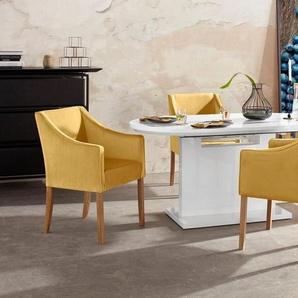 Home affaire Armlehnstuhl »Leonor«, 5 Farben zur Auswahl, mit äußerer Paspel, gold
