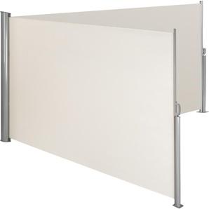 Alu Doppel Seitenmarkise beige 160 x 600 cm