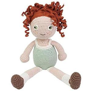 Sebra - Häkel-Puppe - Woll-Puppe - Hanna - Baumwolle - Höhe 40 cm