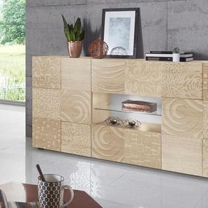 Lc   Sideboard »Miro«, beige, pflegeleichte Oberfläche, mit Schubkästen, FSC®-zertifiziert