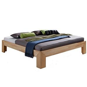 Unbekannt Massivholz-Bett Selina 160 x 200 cm aus Kernbuche, Holzbett, als Doppel- und Jugend-Bett verwendbar, inkl. Stecksystem, 1 Bett á 160 x 200 cm