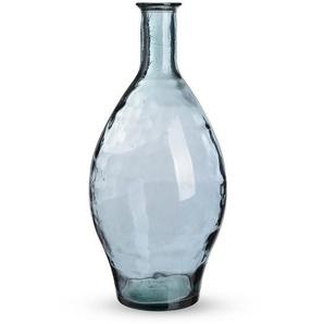 Ballonvase, Glas, D:28cm x H:60cm, blau
