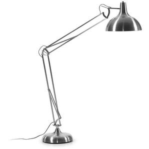 Stehlampe in Nickelfarben 185 cm hoch