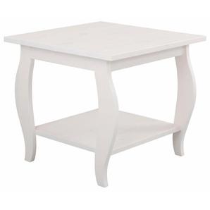 Home Affaire Couchtisch »Mira«, weiß, 50/50/45 cm, Gestell aus Massiv-Holz, FSC®-zertifiziert