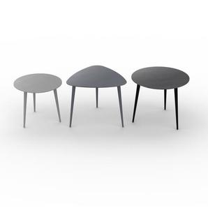 Couchtisch Schwarz - Eleganter Sofatisch: Beste Qualität, einzigartiges Design - 50/59/60 x 44/50/50 x 50/61/60 cm, Konfigurator