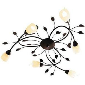 Deckenlampe mit Blätterapplikation, braun, Gr. 16/75 cm,  home