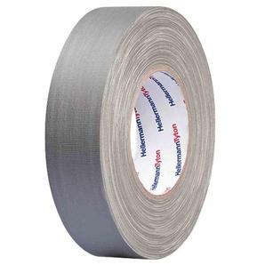 HellermannTyton Gewebeband, 19mm, 50m, grau, 60°C, 0,31mm