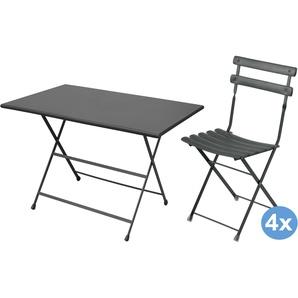 Emu Arc En Ciel Gartenset 110x70 Tisch + 4 Stühle