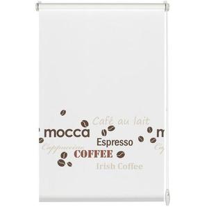 Gardinia EASYFIX Rollo, mit Kaffe-Dekor, lichtdurchlässig, ohne Bohren