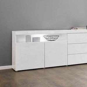 Borchardt Möbel Sideboard »Kapstadt«, weiß, pflegeleichte Oberfläche, mit Schubkästen