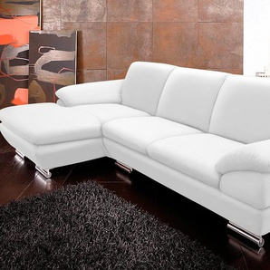 Calia Italia Ecksofa »EST 269«, beige, Recamiere links, B/H/T: 274x44x56cm, hoher Sitzkomfort