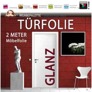 Die Werbepalette (EUR 6,14/Quadratmeter) Türfolie 2 Meter x 1,05 M Möbelfolie Glanz DEKORFOLIE Selbstklebend PREISTIP!