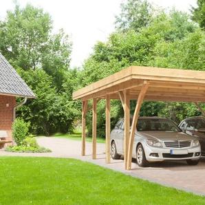 Kiehn-Holz Doppelcarport »KH 105«, BxT: 604x760 cm, mit Alu-Dach
