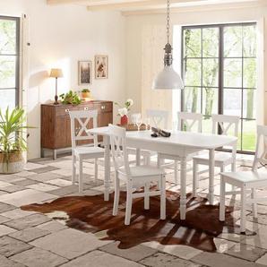 Home affaire Essgruppe , 120/70cm & 4er-Pack Stühle, »Sevilia«, FSC®-zertifiziert