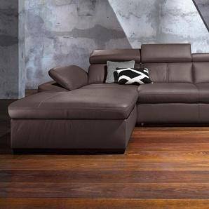 Exxpo - Sofa Fashion Polsterecke ohne Schlaffunktion, braun, Recamiere links, B/H/T: 284x45x56cm, hoher Sitzkomfort, FSC®-zertifiziert