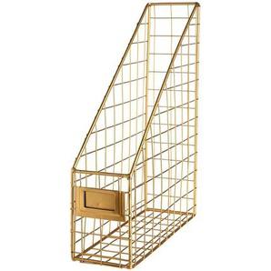 Magazin Halter, 23x8x30cm, gold
