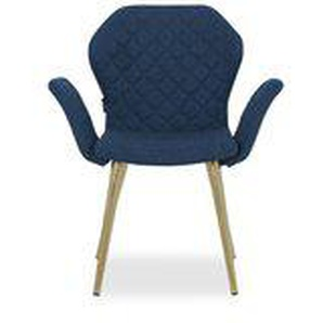 Mizzelli - Armlehnstuhl blau Webstoffbezug