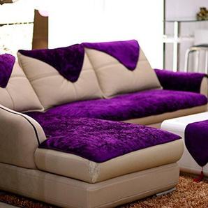 TY&WJ Plüsch Anti-rutsch Sofabezug Wohnzimmer Sofabezug Outdoor Couch-abdeckungen Möbel Protector Für ledersofa Haustier Hund & Kinder-Lila A 70x180cm(28x71inch)