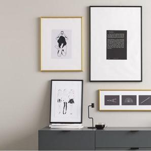 Denver Bilderrahmen aus Metall 50 x 70 cm, mattes Schwarz