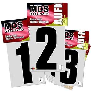 Monsterdesigns 10cm Hausnummer 0-9-Pack Schwarz Zahl Ziffer Nummer Mülltonne
