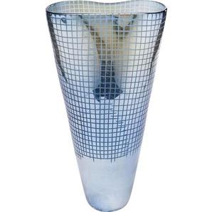 Vase Grid Luster Blau 48cm