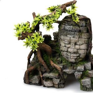 AQUA DELLA Aquariendekoration Angkor Wat mit Pflanzen