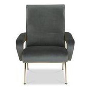 Piscrari - Sessel olivgrün Velvetbezug